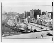 Gateway Park in 1922. Photo by C.J. Hibbard. Minneapolis Collection, Hennepin County Library Special Collections.
