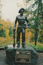 Statue honoring the Civilian Conservation Corps (CCC) of Minnesota, 2008.
